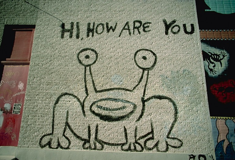 Hi how are you for Daniel johnston mural austin