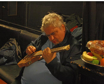 Daniel Johnston backstage at the Paradise Rock Club Boston Oct 15 2009